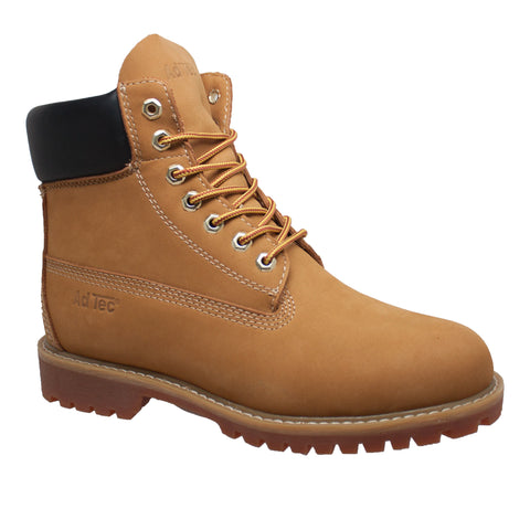 AdTec Womens Tan 6in WP ST Work Boots Nubuck Leather