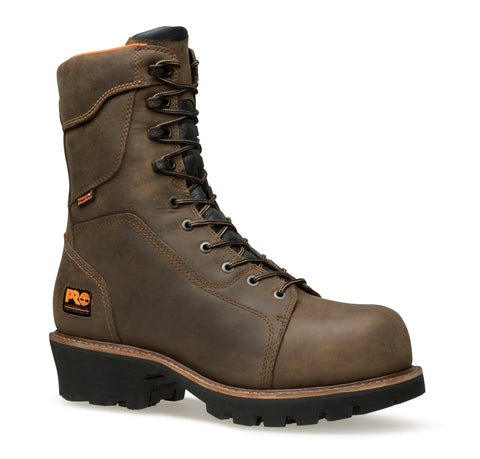 Timberland Pro 9In Rip Saw Ins Comp Toe WP Mens Brown Leather Work Boots