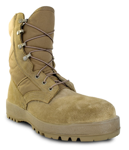 McRae Mens Coyote Leather/Nylon ST Military Combat Boots