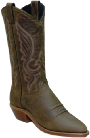 Abilene Boots Ladies Brown Cowhide Cowboy Longhorn USA