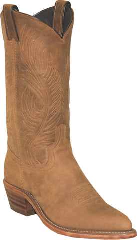 Abilene Boots Ladies Tan Distressed Cowhide Cowboy Western USA