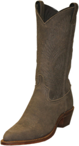 Abilene Womens Distressed Brown Leather 11in J Toe Cowboy Boots