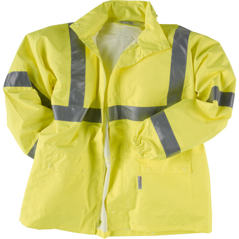 Neese Parka Lime PU on Polyester Air-Tex High Visibility