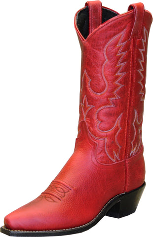 Abilene Boots Ladies Red Cowhide Cowboy USA Textured