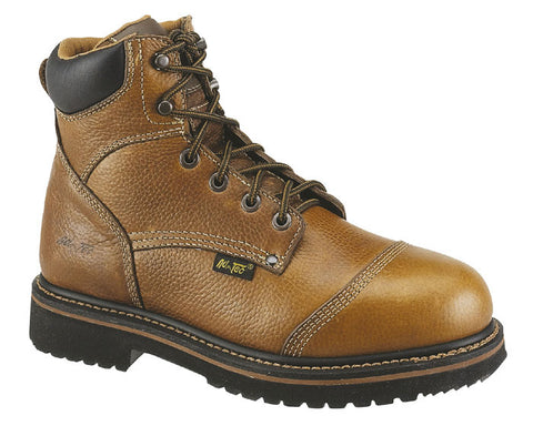 AdTec Mens Light Brown 6in Comfort Work Boot Leather Round Toe