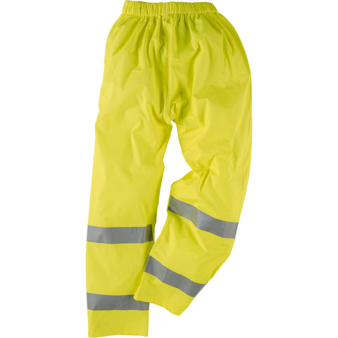 Neese Elastic Waist Trousers Lime PU on Polyester Viz-Tex High Visibility