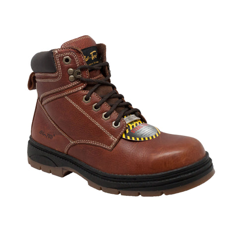 AdTec Mens Brown 6in Steel Toe Work Boot Leather
