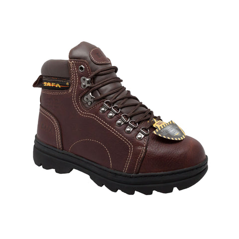 AdTec Mens Brown 6in Metatarsal Hiker Steel Toe Leather Work Boots