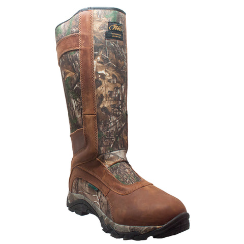 Tecs Mens Brown 15in Snake Bite Hunting Boots Leather