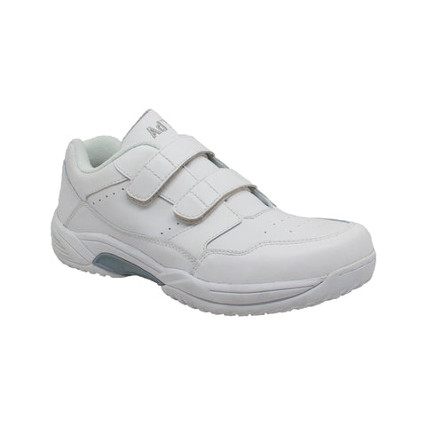 Adtec Mens White Leather Uniform Shoes