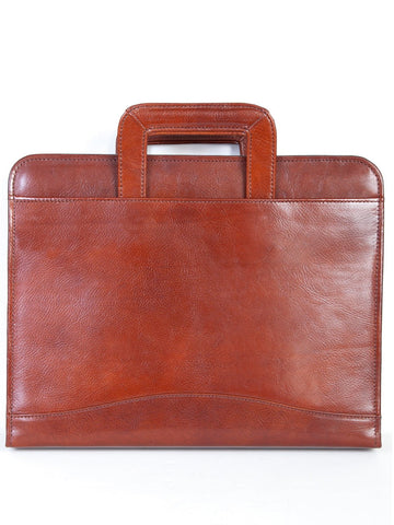 Scully Accessories Mahogany Italian Leather Drop Handle 3 Ring Binder