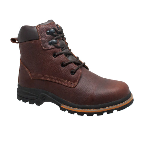 AdTec Mens Brown 6in Work Boots Oiled Leather