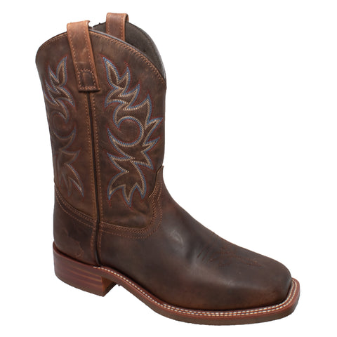 AdTec Mens Brown 11in Western Cowboy Boots Oiled Leather