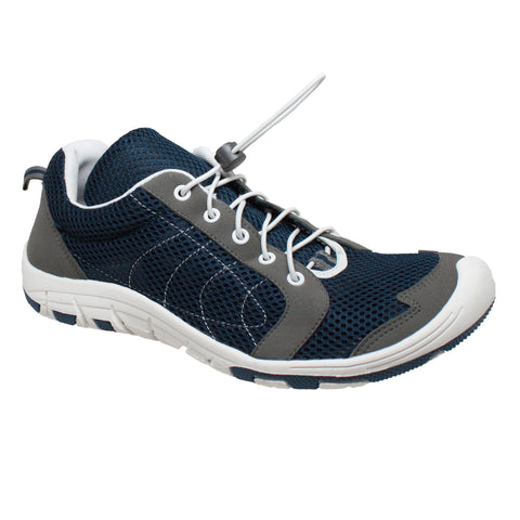 Rocsoc Mens Navy/Grey Speed Lace Athletic Sneaker Mesh