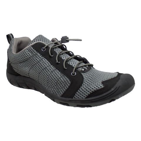 Rocsoc Mens Grey/Black Speed Lace Athletic Sneaker Mesh