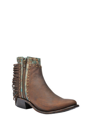 Corral Urban Ladies Studs Honey Cowhide Leather Ankle Boots