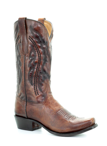Corral Mens Honey Cowhide Leather Cowboy Boots