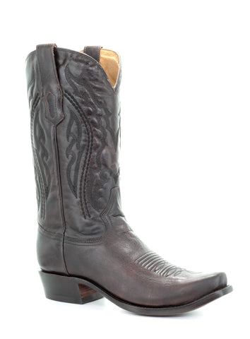 Corral Mens Chocolate Cowhide Leather Cowboy Boots