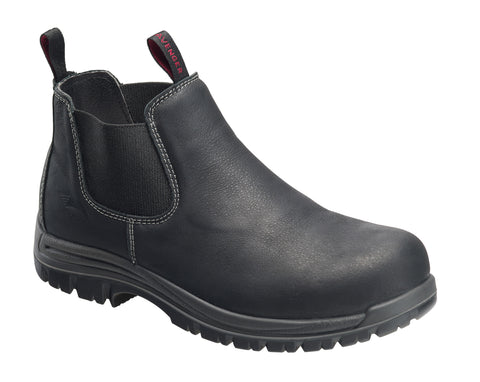Avenger Mens Black Leather Comp Toe Romeo PR Work Boots