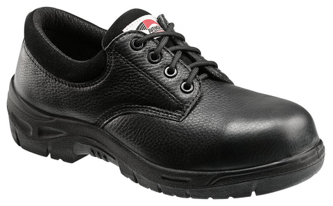Avenger Mens Composite Toe EH Oxford M Black Pebbled Leather Shoes