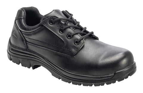 Avenger Mens Comp Toe EH Work Oxford M Black Leather Shoes
