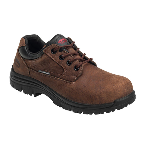 Avenger Mens Brown Leather Comp Toe WP EH SR Work Shoes