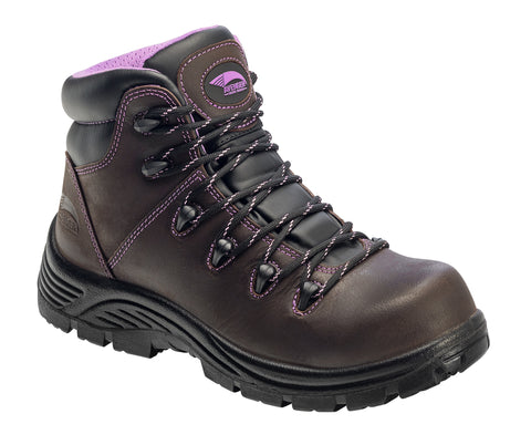 Avenger Womens Comp Toe PR EH WP Hiker M Brown Leather Boots