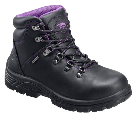 Avenger Womens Steel Toe EH Waterproof Hiker M Black Leather Boots