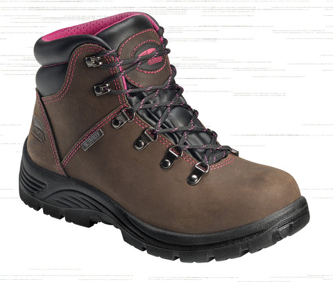 Avenger Womens Steel Toe EH Waterproof Hiker M Brown Leather Boots