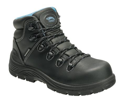 Avenger Womens Black Leather Comp Toe 7127 Framer Work Boots
