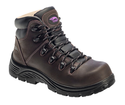 Avenger Womens Brown Leather Comp Toe Framer 400G Work Boots