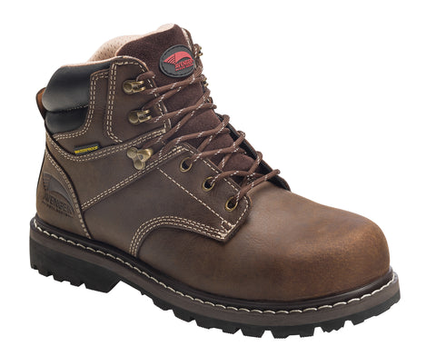 Avenger Womens Brown Leather Steel Toe Sabre EH WP PR Work Boots
