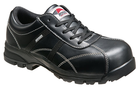 Avenger Womens Composite Toe EH Oxford M Black Leather Shoes Shoes