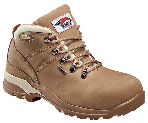 Avenger Womens Composite Toe EH Waterproof Hiker M Camel Leather Boots