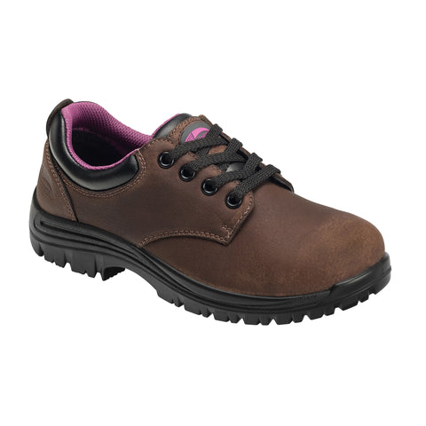 Avenger Womens Brown Leather Comp Toe WP EH SR Work Shoes