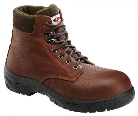 Avenger Mens Steel Toe EH Boot M Brown Pebbled Leather Boots