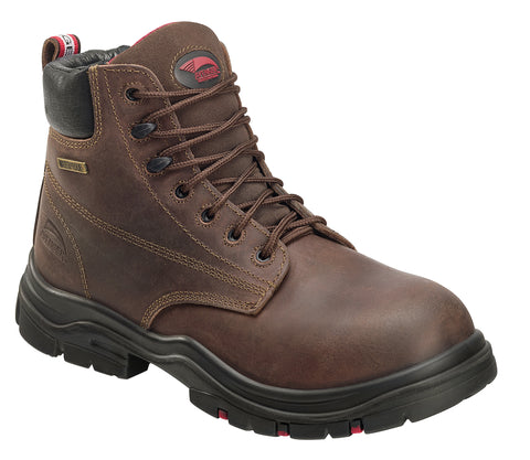 Avenger Mens Hoss Composite Toe EH WP Boot M Brown Leather Boots