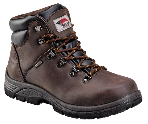 Avenger Mens Steel Toe EH WP Hiker M Brown Full Grain Leather Boots