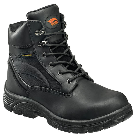 Avenger Mens Steel Toe EH Waterproof Boot W Black Leather Boots