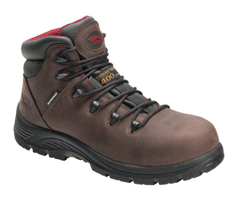Avenger Mens Brown Leather Comp Toe 7228 Framer 400G Work Boots