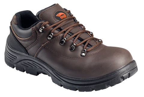 Avenger Mens Steel Toe EH Oxford M Brown Leather Slip Resistant Shoes