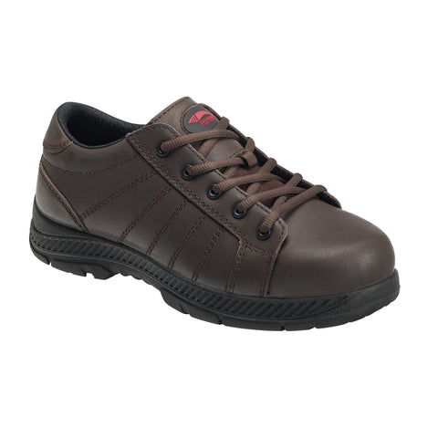Avenger Mens Brown Leather Steel Toe 7231 Oxford Work Shoes