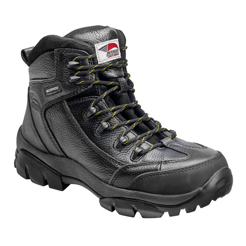 Avenger Mens Composite Toe EH Waterproof Hiker W Black Leather Boots