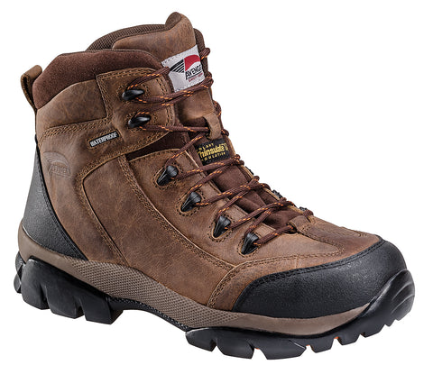 Avenger Mens Composite Toe EH WP Insulated Hiker M Brown Boots Leather