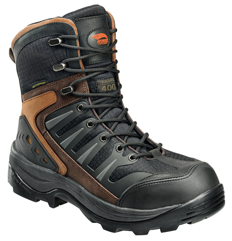 Avenger Mens Composite Toe EH Waterproof Boot M Black/Brown Leather