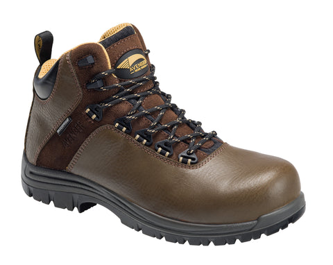 Avenger Mens Brown Leather Comp Toe 7281 Breaker 6in Work Boots