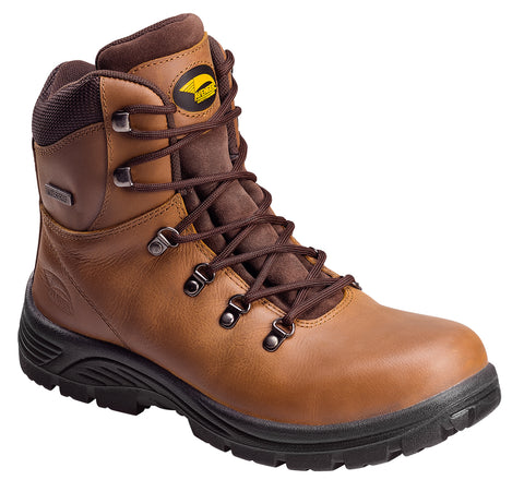 Avenger Mens Steel Toe EH WP Boot W Brown Leather Slip Resistant Boots