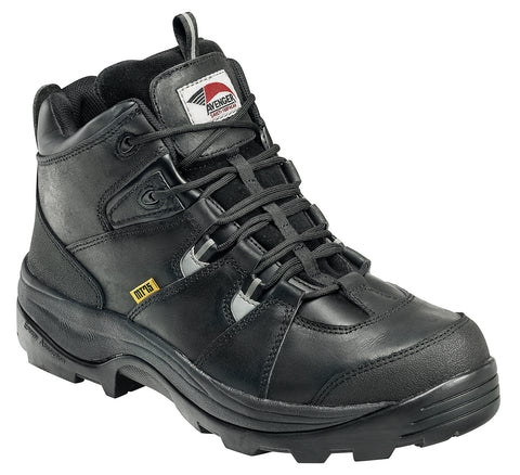 Avenger Mens Steel Toe Internal Met Guard Boot M Black Leather Boots