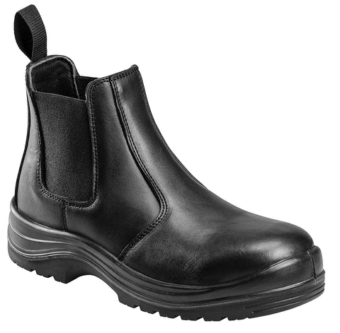 Avenger Mens Composite Toe EH Romeo M Black Leather Waxy Boots