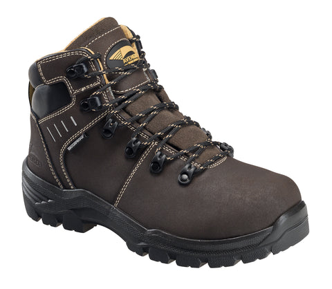 Avenger Womens Brown Leather Comp Toe 7452 MetG PR Work Boots